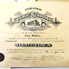 John P. Cleary |  The Herald Bulletin<br /> This is the 1919 Anderson High School diploma of Lena Mathers that Cael Alexander, 12, found behind a framed picture of Jesus he bought at a garage sale.