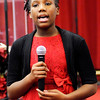 "Don Knight |  The Herald Bulletin<br /> Ja'ryeah Harrison sings ""Blessed and Highly Favored"" a cappella during Mt. Pilgram Church's Youth Christmas Program on Saturday."