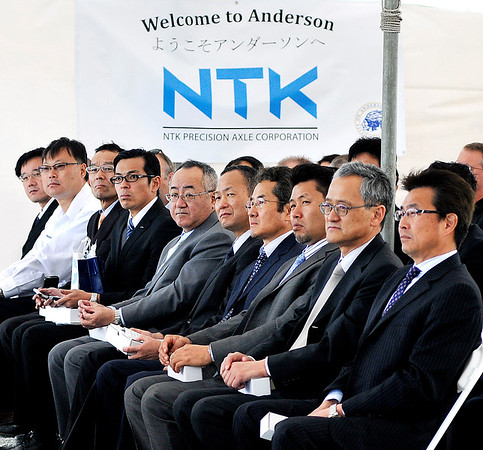 John P. Cleary    The Herald Bulletin    File photo<br /> NTK Precision Axle Corp. held the official groundbreaking ceremony Wednesday, June 7, 2017, for their new $98 million, 300,000 square-foot production facility being built in Anderson.