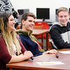 Don Knight | The Herald Bulletin<br /> Anderson's Academic Team reacts to a question as they hosted Frankton on Tuesday. From left are Jordan Boylen, Simon Bell, Tristan Hankins and Logan Knight. Anderson won the meet 56 - 34.