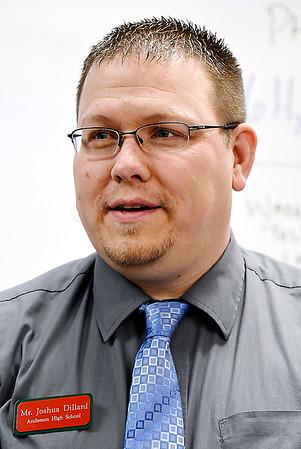 John P. Cleary   The Herald Bulletin<br /> Anderson High School Project lead the Way teacher Josh Dillard.