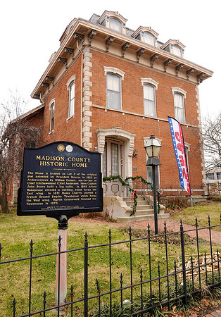 Don Knight   The Herald Bulletin<br /> The historic Gruenewald House was built in two sections and completed in 1873. If you see the banner in the yard the home is open for tours and if you would like to volunteer you can call 765-648-6875.