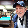 John P. Cleary | The Herald Bulletin<br /> 98 year-old WWII Navy veteran Gene Smith enjoys the company of his fellow veterans at the Elwood VFW Post and a good game of pool.