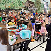 John P. Cleary | The Herald Bulletin<br /> East Elementary School kindergarten teacher Heather Bates gives instructions to all the kindergarten students during lunch period for all five classes.