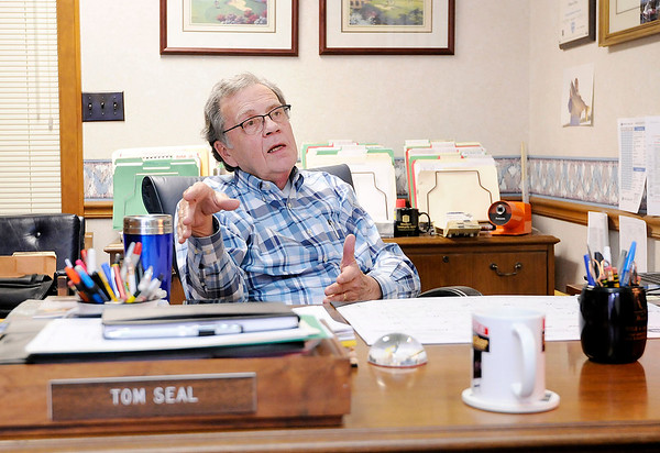 Don Knight | The Herald Bulletin Local realtor Tom Seal is moving to Louisville to spend more time with family as he steps back from full time work.
