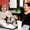 Don Knight | The Herald Bulletin<br /> Sisters Judy Buckles, left, and Ruthann Ginder talk about why they think it is important to be involved in voting and politics.