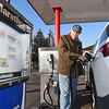 John P. Cleary | The Herald Bulletin<br /> Norman Day of Day's Marathon Service in Middletown pumps gas for this customer as the station is one of the last to offer full service.