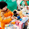 Don Knight | The Herald Bulletin<br /> Jax Laplante, 6, decides between plush toys during the City Wide Toy Giveaway at the UAW on Saturday.