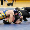 Don Knight | The Herald Bulletin<br /> Shenandoah's Cole Hughes pins Hagerstown's Clay Cochran in the 152-pound match on Wednesday.