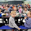 John P. Cleary | The Herald Bulletin<br /> All five East Elementary School kindergarten classes have lunch together.
