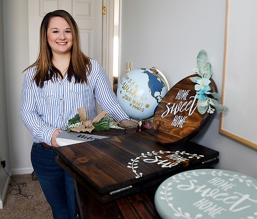 Hilary May cut the cord on a full-time job to start her Etsy business where she makes and sells home decor items and unique furnishings.