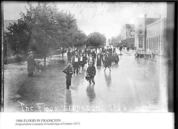 Some of the historical material the Frankton History Club has collected include this photo of the 1906 flood in Frankton.