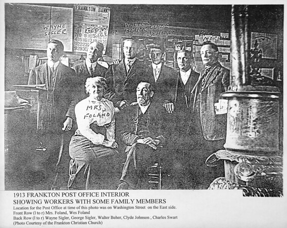 Some of the historical material the Frankton History Club has collected include this 1913 photo of the Frankton Post Office and it's workers.
