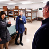 Anne Hazlett, with the White House's National Drug Control Policy, tours the proposed Aspire treatment facility in Anderson Friday with Barbara Scott, CEO Aspire Indiana health, and Darrell Mitchell, CEO Progress House. Aspire proposes turning the former SunRise Retreat Center into a substance abuse recovery facility with 92 beds.