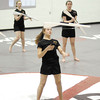"The Anderson High School Winter Guard perform ""The Wounded"" that is the theme of the 2013 show."