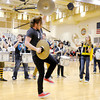Lapel's pep band performs as the Bulldogs run onto the floor as Lapel hosted Cardinal Ritter on Friday.