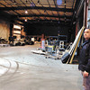 Pete Bitar looks around one of the areas in the Anderson Innovation Center at 1735 W. 53rd Street that can be used as part of the Flagship Alliance.