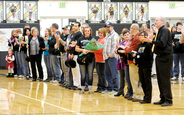 Daleville recognized their senior athletes during their senior night as the Broncos hosted the Frankton Eagles on Saturday.