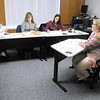 Professor Melanie Peddicord teaches a class on fraud prevention at Anderson University on Thursday.
