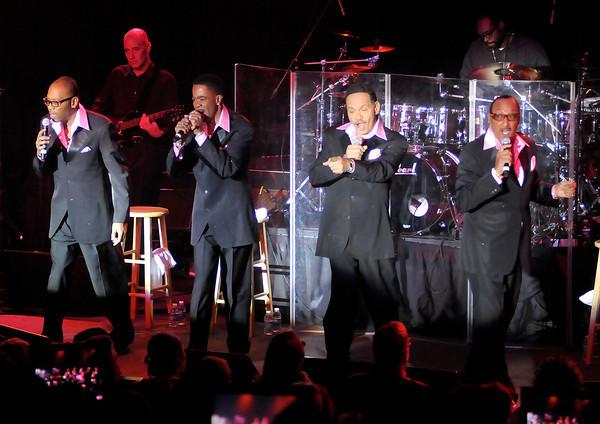The Four Tops perform in the Terrace Showroom at Hoosier Park Racing & Casino on Saturday.