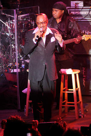 "Surviving member of The Four Tops Abdul ""Duke"" Fakir, 77, performs in the Terrace Showroom at Hoosier Park Racing & Casino on Saturday."