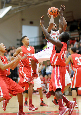 Anderson's Kenya Wilkerson shoots from the paint as the Indians hosted the Richmond Red Devils on Friday.