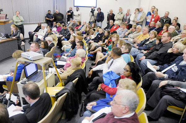 The City Council chambers were filled to capacity and flowed out into the hallway as the council was presented with a plan to annex approximately 21 square miles of land.