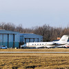 THB FILE PHOTO: These large private jets were part of several more that were parked at Anderson Airport Sunday for the Super Bowl.