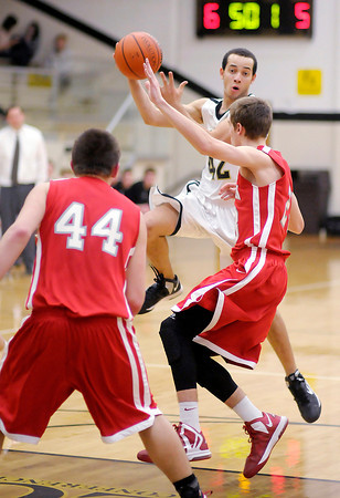 Daleville's James Tungate passes the ball as the Broncos hosted the Frankton Eagles on Saturday.