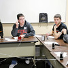 Frankton teammates confer on an answer during the Academic Brain Bowl at the Flagship Enterprise Center hosted by Purdue University College of Technology at Anderson on Saturday. From left are Denise Myrick, Blake Michael, Josh Reed and Joey Rogers. Other members not pictured are Zach Turner, Kelli Bankson and coach Kevin Cline.