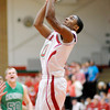 Anderson's Jalin Beard scores as the Indians hosted the New Castle Trojans on Friday.
