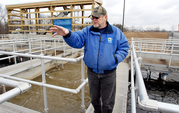 Chesterfield water treatment plant certified operator Allan Ash.