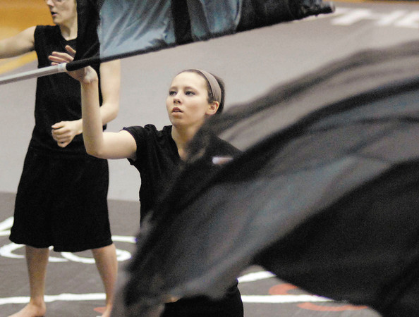 "The Anderson High School Winter Guard performs ""The Wounded""."