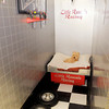 Don Knight / The Herald Bulletin<br /> Gasoline Alley is one of Little Rascal's Pet Motel's themed kennels.