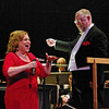 "Hometown girl Sandi Patty sings ""All of Me"" as Richard Sowers turns and smiles as he conducts the Anderson Symphony Orchestra during the Valentine's Concert presented Saturday night at the Paramount Theatre."