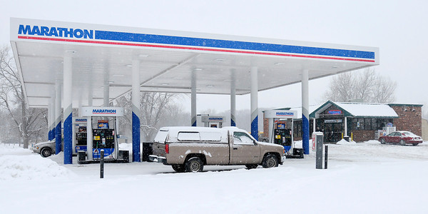 Don Knight / The Herald Bulletin<br /> An employee at the Rickers on North Madison Avenue has been robbed three times in five months and her family is concerned for her safety.