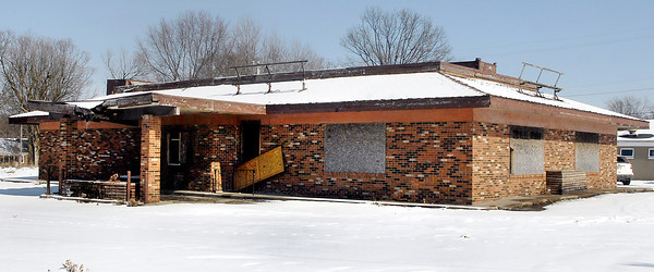 THB photo/John P. Cleary<br /> This former Hardee's restaurant on the north side of Nichol Avenue is one of three commercial properties slated for demolition.