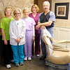 Don Knight / The Herald Bulletin<br /> Carey McLaughlin was named Best Dentist in The Herald Bulletin's Best of Madison County contest. From left are Pam Teeters, Lynn Regan, Cathy Rowe, Susan Huffman and Carey McLaughlin.