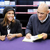"Don Knight / The Herald Bulletin<br /> Former Colts coach Tony Dungy and his wife Lauren sign copies of their new book ""Uncommon Marriage"" at the Family Christian bookstore in Anderson on Tuesday. Married 31 years Tony and Lauren draw on their experience to offer their marriage advice to readers."