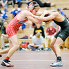 Don Knight / The Herald Bulletin<br /> Frankton's Garrett Allen wrestles Pendleton Heights' David Bryant during the wrestling sectional at Hamilton Heights on Saturday. Allen won claiming his first sectional title.