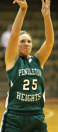 Chris Martin for THB/ Senior Taylor Siefken shoots a free throw Wednesday night against New Castle.