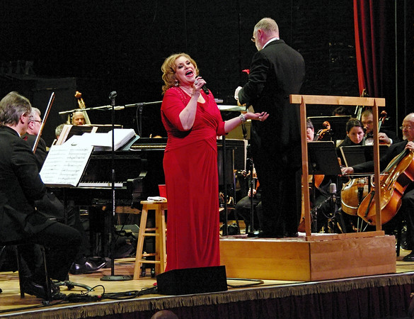 Grammy and Dove award winner Sandi Patty performs some of her favorite tunes from Broadway musicals with the Anderson Symphony Orchestra during its Valentine's Concert Saturday night at the Paramount Theatre.
