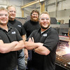Don Knight / The Herald Bulletin<br /> Mofab is a third generation family owned business and one of three up for this year's Small Business of the Year. From left are Mason Hains, Max Hains, Tanner Smith and Max Hains II.