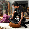 "THB photo/John P. Cleary<br /> Josh Medlin gives a Shiatsu session to client Mary Harte.  Shiatsu means ""finger-pressure"" and originated from Japan."