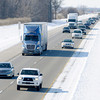Don Knight / The Herald Bulletin<br /> Traffic travels on Interstate 69 on Friday. INDOT hopes to have the design state for a third lane completed in 2014 with construction to begin in 2015. Work is expected to be completed in late 2016 or early 2017.