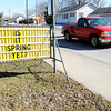 "Don Knight / The Herald Bulletin<br /> This sign on 29th Street in front of St. Ambrose asks ""Is it Spring yet."" With the polar vortex forecast to return next week it looks like the answer is not yet."