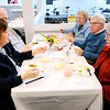 Don Knight   The Herald Bulletin<br /> Clockwise from left, Diane and Jack Mendenhall, JoAnn Fryback, Ron and Joyce Nunley enjoy a meal for Lapel Food Pantry volunteers at Daybreak Community Church on Wednesday.