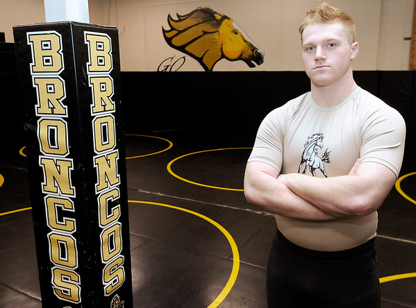 Don Knight | The Herald Bulletin<br /> Corbin Maddox is returning to Bankers Life Fieldhouse to represent Daleville in the wrestling state finals this weekend.