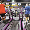 John P. Cleary |  The Herald Bulletin<br /> People can watch the TV's as they workout on the treadmills at Planet Fitness Anderson, voted Best Fitness Facility in the THB Best Of voting.