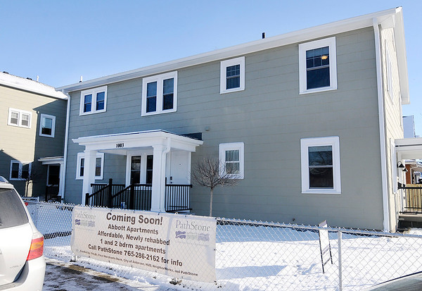 Don Knight | The Herald Bulletin<br /> PathStone held a grand opening at the remodeled Abbott Apartments on East 8th Street on Thursday. A grant from the Federal Home Loan Bank of Indianapolis and the city made the project possible.